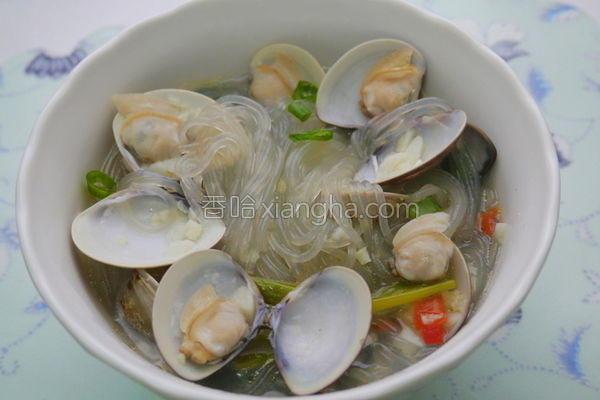 蒜香蛤蜊冬粉汤的做法