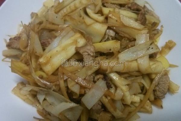 桂竹笋炒肉丝的做法