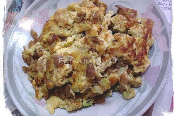 香芹菜脯蛋的做法