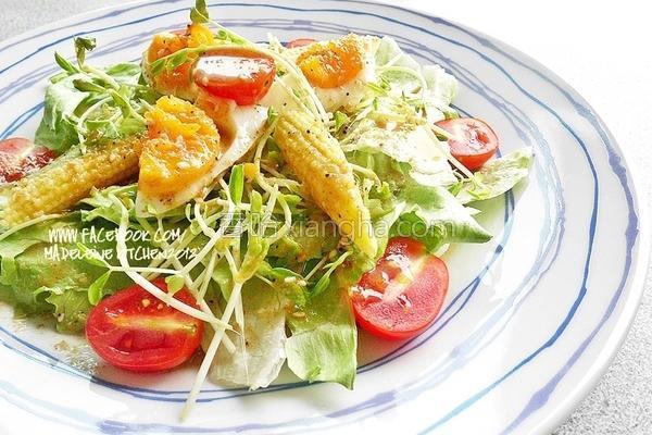 风蔬食沙拉的做法