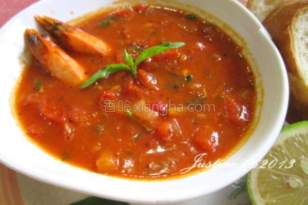 番茄洋葱甲壳汤的做法