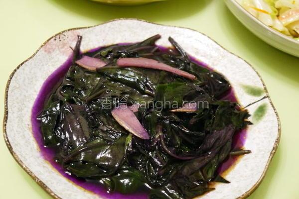 麻油炒红凤菜的做法