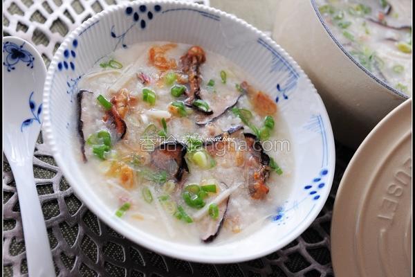 蚵干香菇粥的做法