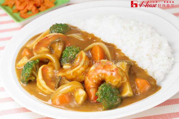 鲜虾花椰菜咖哩的做法