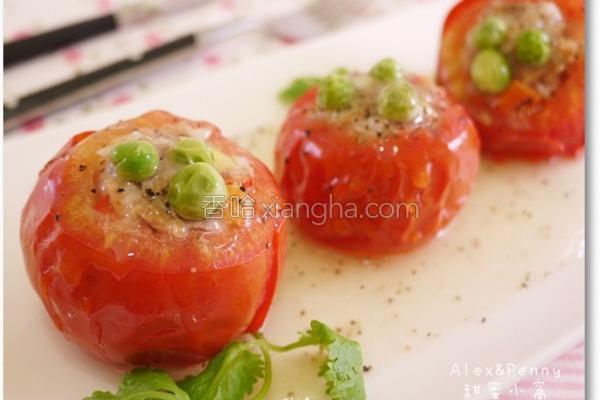 番茄镶肉的做法
