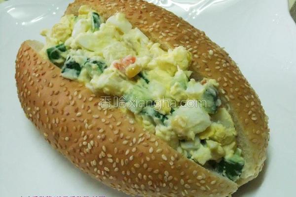 艇堡蔬果蛋沙拉的做法