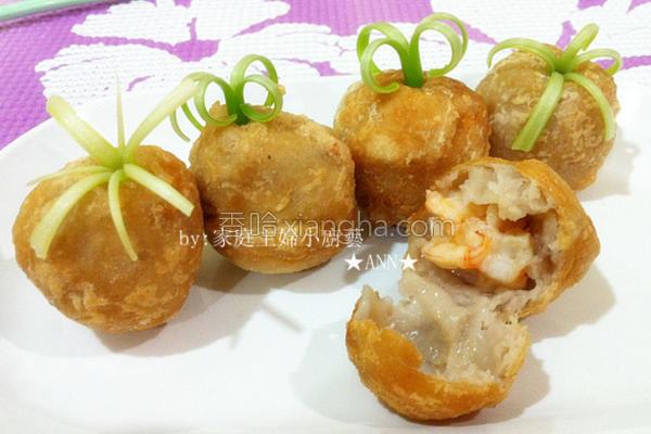 香芋鲜虾丸子的做法