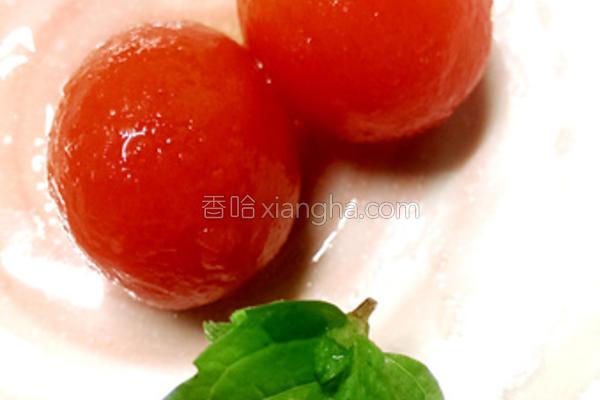 茶香冰酿番茄的做法