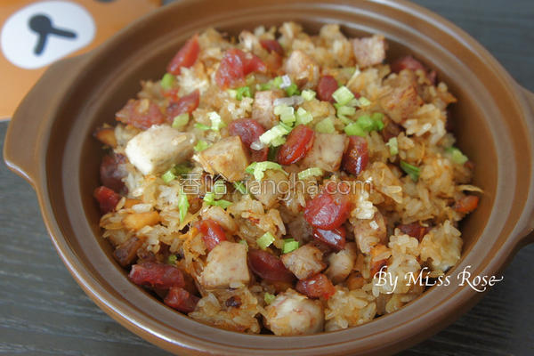 芋头腊肠糯米饭的做法