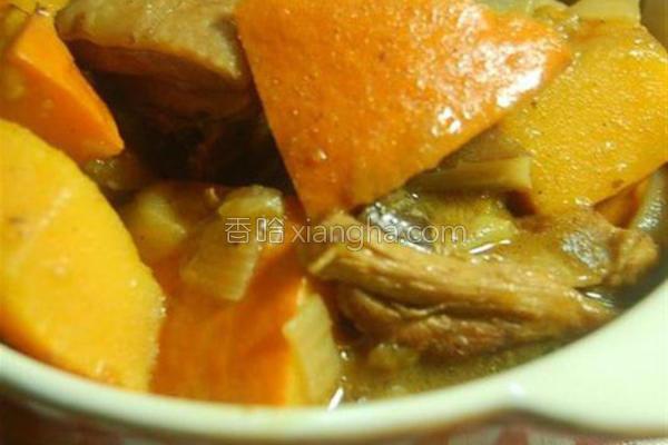 南瓜鸡肉咖哩的做法