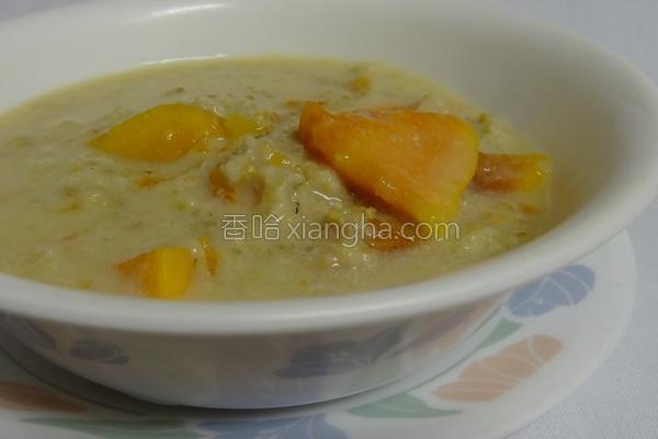 燕麦木瓜粥的做法