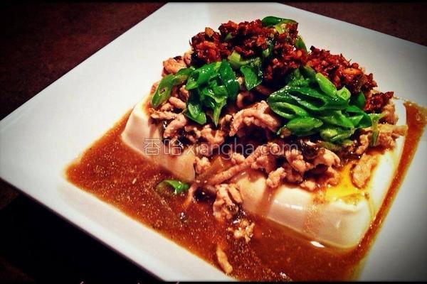 脆辣椒葱油豆腐的做法