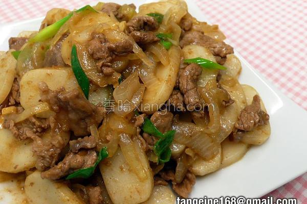 沙茶牛肉炒年糕