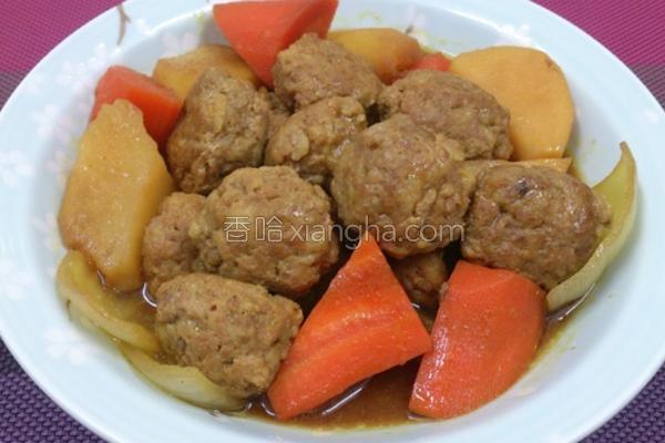 咖哩肉丸的做法