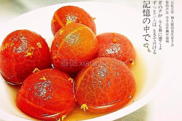 桂香酿番茄的做法