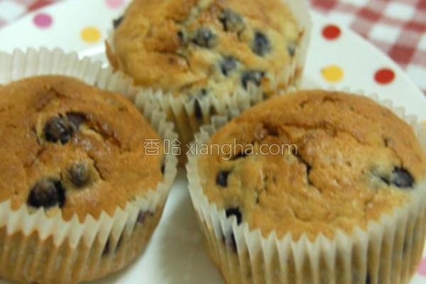 蓝莓香蕉酸奶玛芬的做法