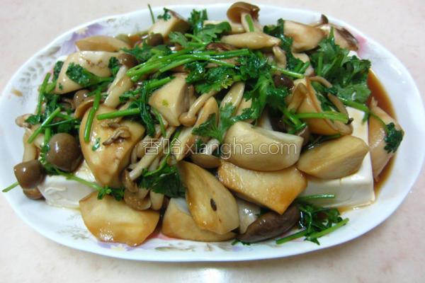 菇菇豆腐的做法