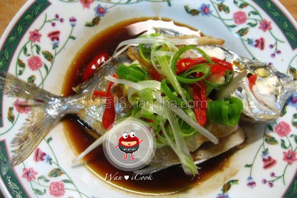 蚝油蒸青鳞鱼的做法