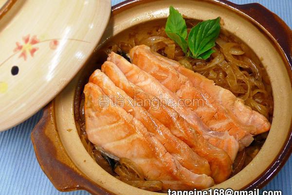 鲑鱼粉丝煲的做法