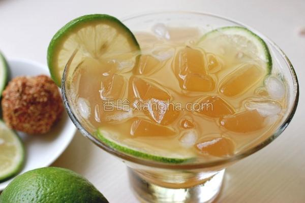 爱玉柠檬冻饮的做法