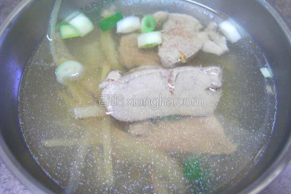 猪肝汤的做法