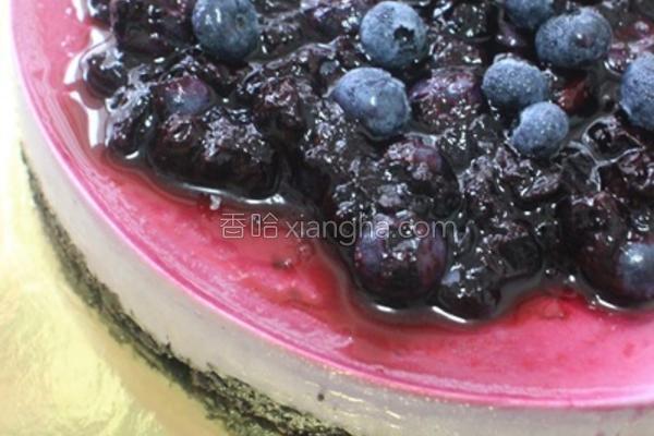 蓝莓芝士冻饼的做法