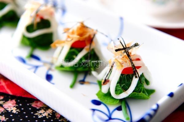 凉拌沙拉龙鬚菜的做法