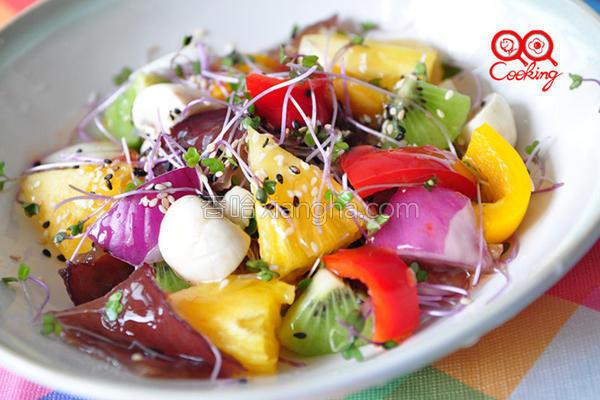 泰式缤纷蔬果沙拉的做法