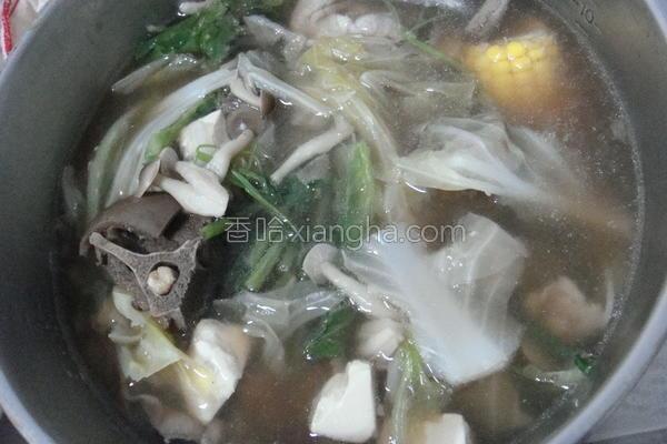 菇菇羊肉炉的做法