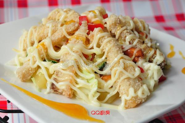 果香风味鱼片沙拉的做法