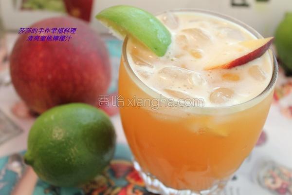 清爽蜜桃柠檬汁的做法