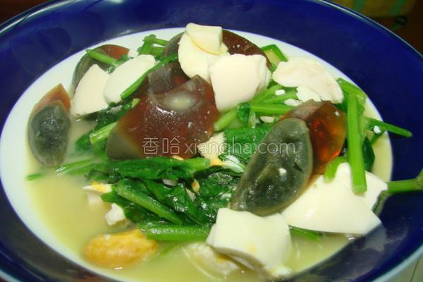 金银蛋炒菠菜的做法