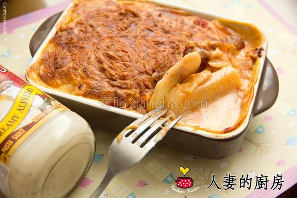白酱烤泡菜马铃薯的做法
