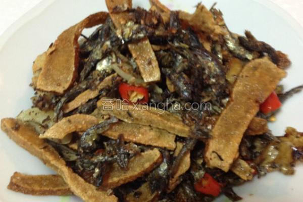 干炒小鱼豆干的做法