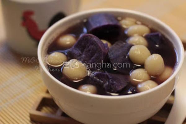 紫心番薯小丸子的做法