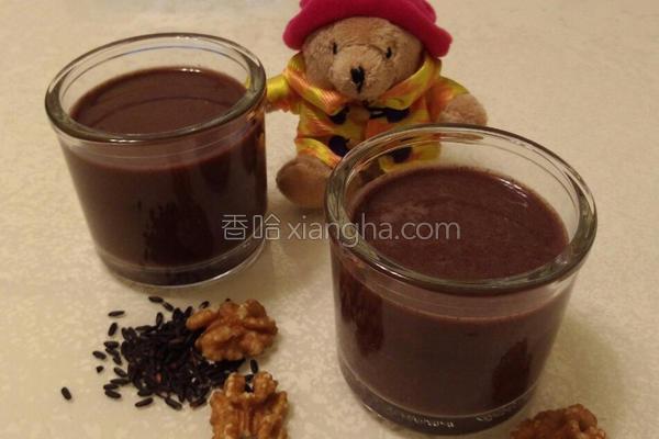 核桃紫米浆的做法