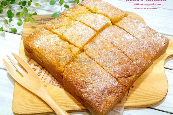 焦糖香蕉蛋糕的做法