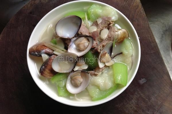 丝瓜蛤蛎细面的做法