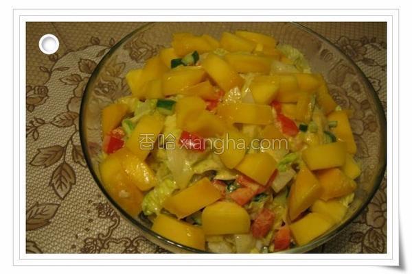 五彩缤纷鲜蔬沙拉的做法