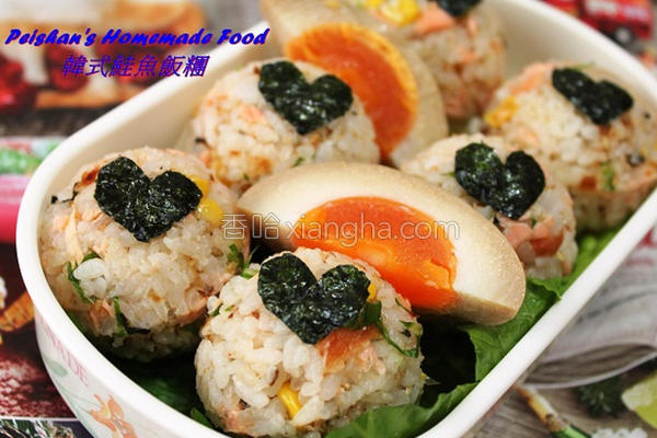 韩式鲑鱼饭团的做法