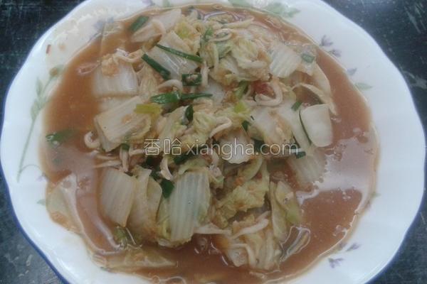 银鱼白菜的做法
