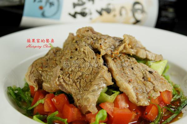 凉拌生菜牛肩肉的做法