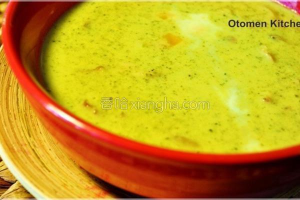 花椰菜蘑菇浓汤的做法