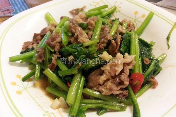 炒波菜羊肉