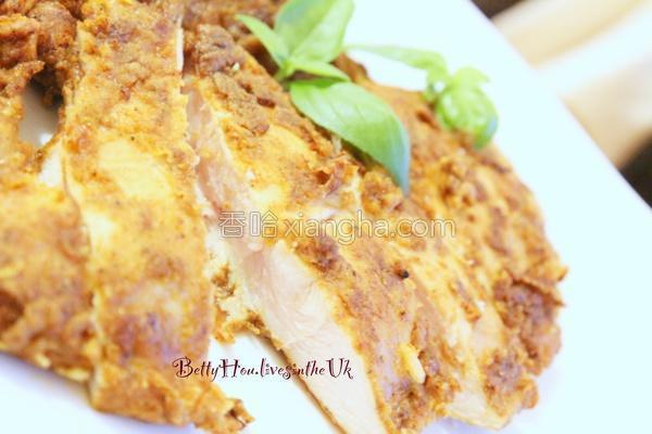 咖哩香煎鸡柳条的做法