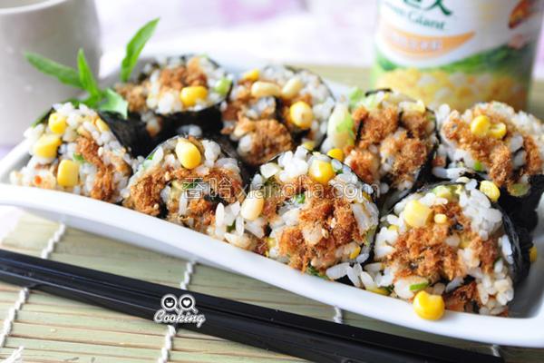 帆立贝玉米粒寿司的做法
