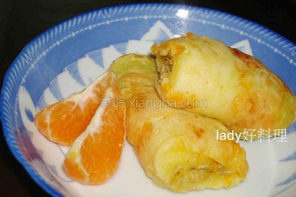 蜜柑松饼卷的做法