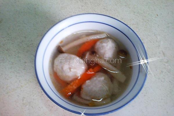 创意鲜鱼丸汤的做法