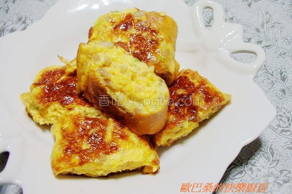 菜脯芹菜末煎蛋的做法