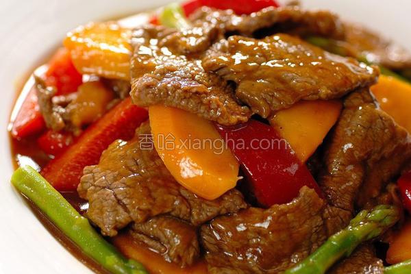 香芒咖哩炒牛肉的做法